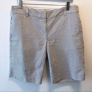 J.Crew Seersucker Bermuda City Fit Shorts Sz 6